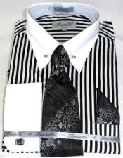 Black/White Stripe Colorful mens