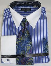 Blue Stripe Colorful Mens