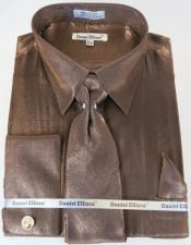 Shirt Tie Brown Colorful