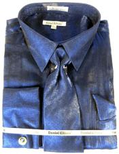 Satin Shirt Tie Navy
