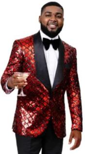 Red Tuxedo With Black