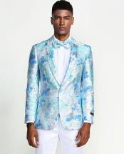Floral Tuxedo Jacket Slim