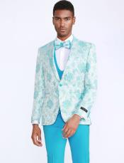 Tuxedo with Floral Pattern