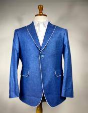 Royal Blue Notch Lapel