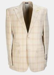 Piece Peak Lapel Plaid