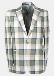 Four Button Plaid Linen