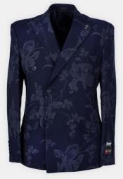 Button Peak Lapel Paisley