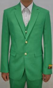 Green Suit With Flat