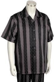 Stripes Short Sleeve Grey/Black