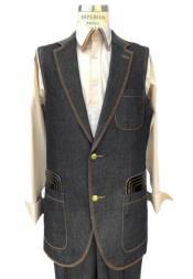 Sleeveless Suit Denim 2