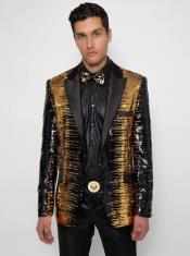Gold Sequin Tuxedo -