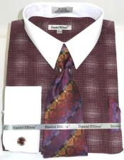Mens Burgundy Dress Shirt