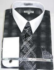 Black Colorful Dress Shirt