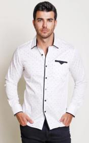 Cotton Three-button Fastenings Long-sleeved
