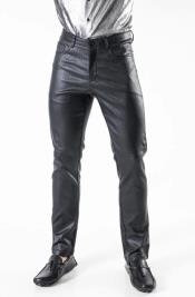 men's Comfortable fit Front and Back Pockets Pants Slate