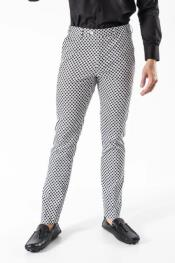 Plaid design Pants Black