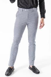 Plaid design Blue Pant