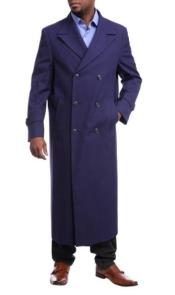 Full Length Overcoat Navy