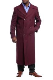 Full Length Overcoat Burgundy