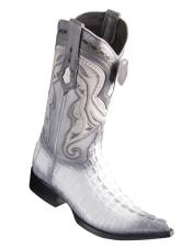 Caiman Tail White Pointed