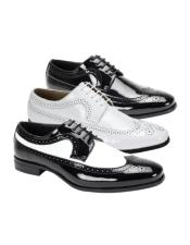 Leather Shoe Wingtip Lace