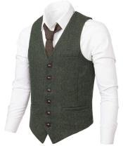Slim Fit Herringbone Tweed