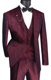 Floral Suit Ruby- Mens