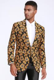 and Gold Blazer Slim