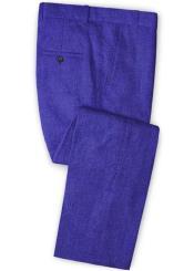 Cobalt Blue Fabric Flat