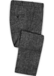 Linen Fabric Pants Flat