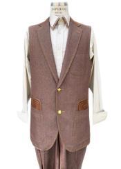 Rust Sleeveless Suit Vest