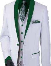 and Green Lapel Suit