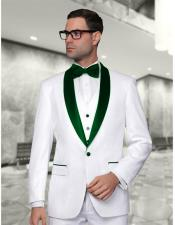 and Green Lapel Vested