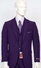 Purple Poplin Fabric Pacelli