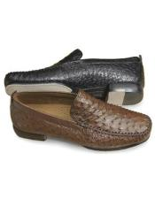 Genuine Ostrich Skin Mens