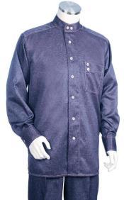 Mandarin Banded Collar Shirts