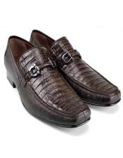 Loafer Brown Genuine Caiman