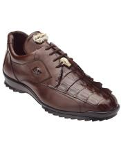 Sneaker Tabac Brown Crocodile