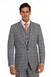 Checkered Patterned Plaid Suit