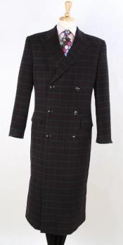 Plaid 100% Wool Overcoat