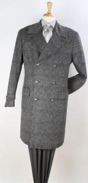 Plaid 100% Topcoat Grey