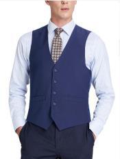 Mens Suit Vest Royal