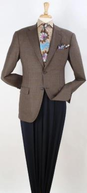 Brown Windowpane Mens Blazer