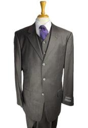 Buttons Charcoal Pinstripe Suit