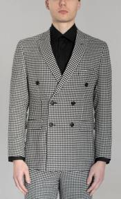 Button Houndstooth Black And