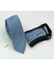 Tie Set Blue Dot