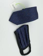 Tie Set Navy Dot
