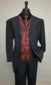 Four Button Vested Suit