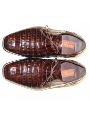 Mezlan Brown Genuine Alligator