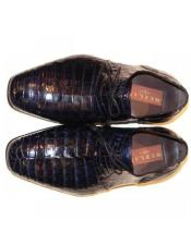 Mezlan Navy Genuine Alligator